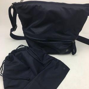 Lululemon Navy Bucket Crossbody & Drawstring Bags